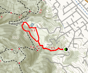 Del Amigo Trail to Eugene O'Neil National Historic Site Map