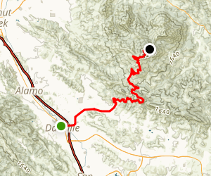 Mount Diablo Road Ride to Summit via South Gate Map