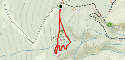 Zapata Falls Campground Map