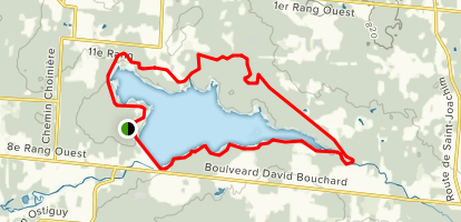 Piste Nord Trail Map
