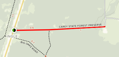 Cary State Forest Preserve Trail Map