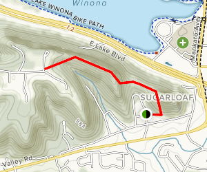Sugarloaf to Garvin Heights Trail Map