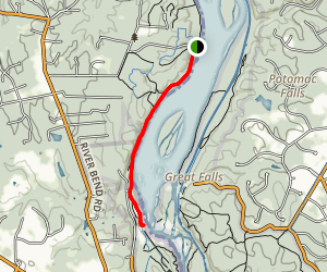 Riverbend Park to Great Falls Overlook Map