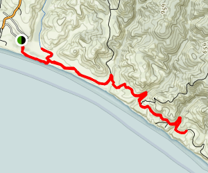 Coast Trail- Limantour to Sculptured Beach Map
