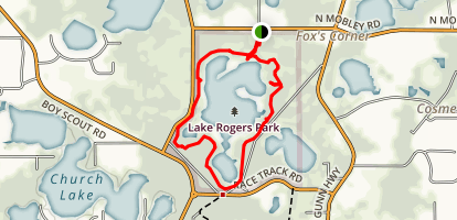 Lake Rogers Park Trail Map