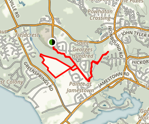 Greensprings Greenway Trails Map