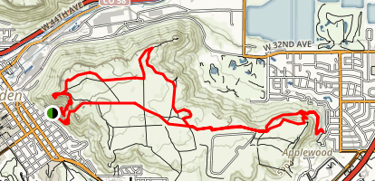 South Table Mountain Trail Loop Map
