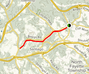Montour Trail - Enlow to Boggs Map
