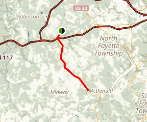 Montour Trail - Boggs to McDonald Map
