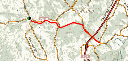Montour Trail - Venice to Hendersonville Map