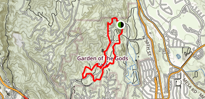 Rocks and Vistas Garden of the Gods Trail Map