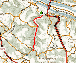 Montour Trail-Coraopolis to Beaver Grade Map