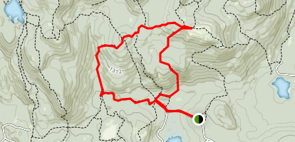 Straightback Mountain and Mount Anna via Main Trail (Blue) and Old Stage Road Map