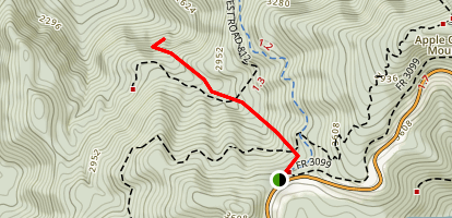 Apple Orchard Falls Trail Map