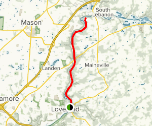 Little Miami Scenic Trail from Little Miami State Park to Middletown Junction Map