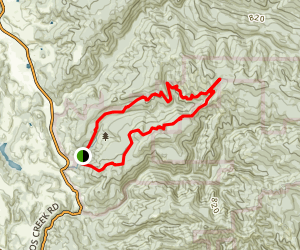 Canyon, Goat Hill Trail Loop Map