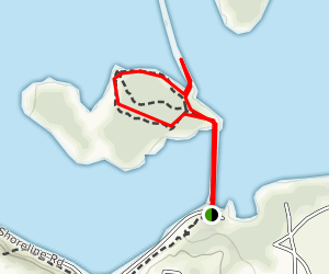 Greer Island Trail Map