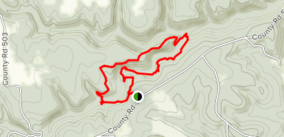 Clifty Creek Natural Area Trail Map