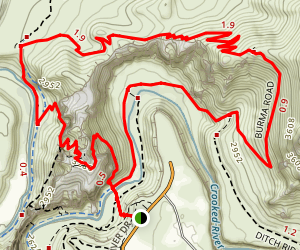 Misery Ridge and Summit Trail Loop Map