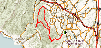 Aliso Creek and Wood Canyon Loop Trail   Map