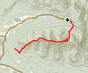 Black Dome Range Trail Map