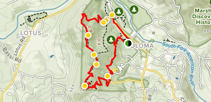 Monroe Ridge Trail and the Monument Trail Map