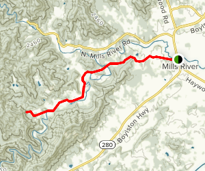 South Mills River Road Map