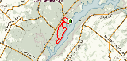 Lake Nockamixon Area Trail Map