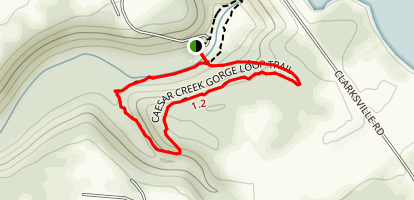 Caesar Creek Gorge Trail Map