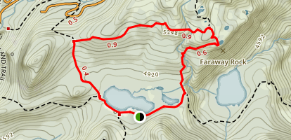 High Lakes Loop Trail Map