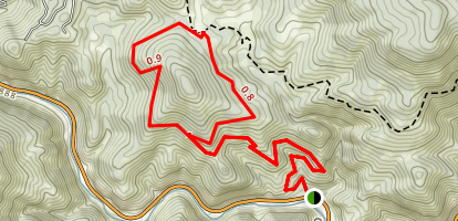 Mayhem Gulch  Juniper Loop Trail Map