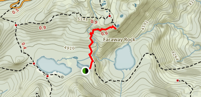 Faraway Rock via Reflection Lakes Map