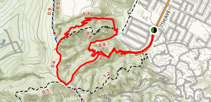 Ahwingna and Native Oak Loop Trail Map