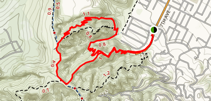 Hacienda Hills Ahwinga, Native Oak Loop Trail Map