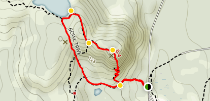 The Beehive Loop Trail Map