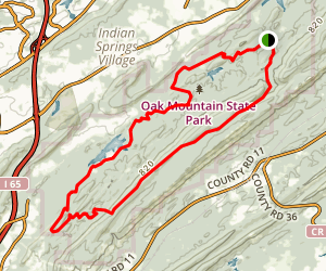 Oak Mountain Red Trail Loop Map