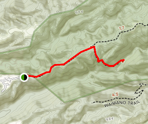 Waimano Falls Trail Map