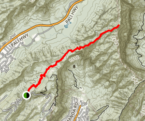 Pu'u Konahuanui Peak Trail Map