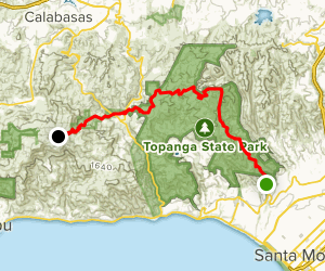 Backbone Trail from Will Rogers to Stunt Road  Map