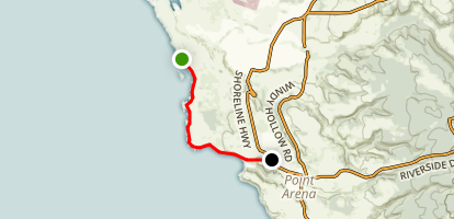 Point Arena-Stornetta Unit of the California Coastal National Monument Map