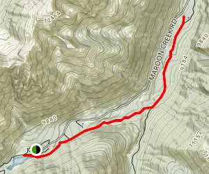 Maroon Creek Trail Map