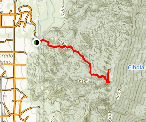 Embudito Trail to South Sandia Peak Map