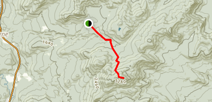 Hurricane Mountain Trail Northern Approach Map