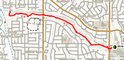 Dimple Dell Trail West Map