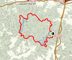 Two Lakes Loop Trail Map