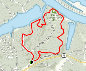 Fort Donelson Battlefield Loop Trail Map