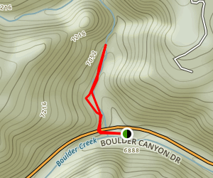 Boulder Falls Trail [CLOSED] Map