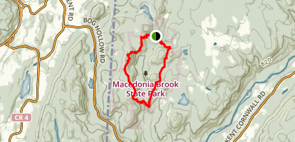 Macedonia Brook State Park  Map