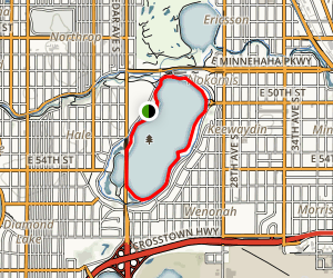 Lake Nokomis Trail Map