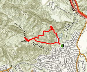 O'Melveny Bee Canyon Trail Map